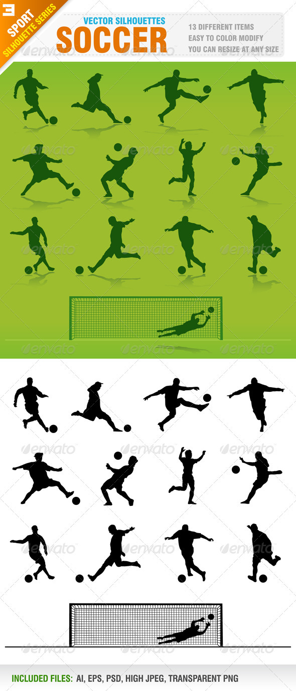 Soccer Silhouettes - Sports/Activity Conceptual