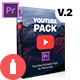 Youtube Pack - MOGRTs for Premiere & Extension Tool