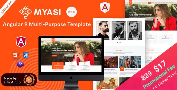 Myasi   Angular 9 Multi-Purpose Responsive Template by EnvyTheme