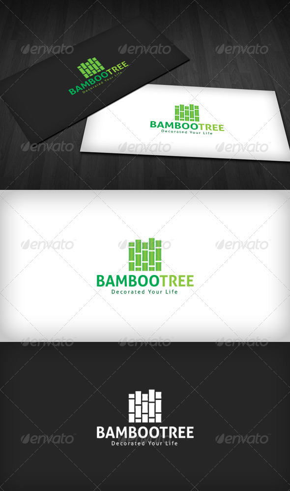 Bamboo Tree Logo - Nature Logo Templates