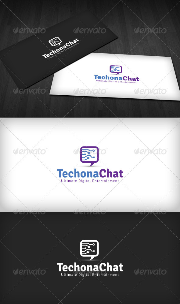 Techno Chat Logo - Symbols Logo Templates