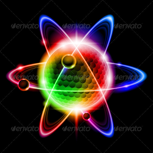 Green Atom Electron - Backgrounds Business