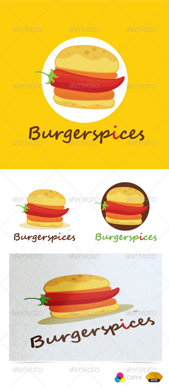 Burgerspices Logo - Food Logo Templates
