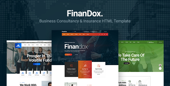 Finandox - Business Consulting and Professional Services HTML Template