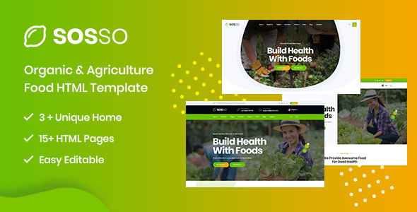 Sosso - Agriculture HTML Template