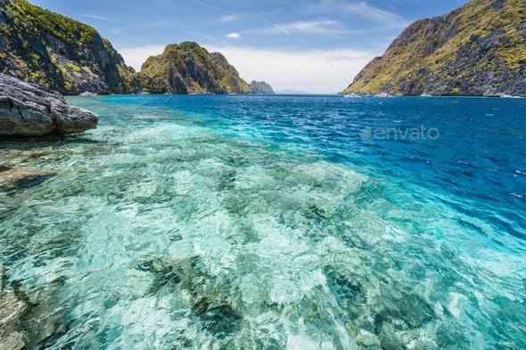 El Nido, Palawan, Philippines. Tapiutan strait on island tour C. Located on Matinloc island. Bacuit - Stock Photo - Images