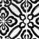 Black floral tiles - PhotoDune Item for Sale