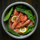 raw fresh shrimps and spinach wood - PhotoDune Item for Sale