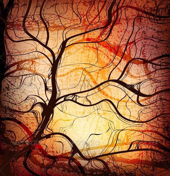 Stylized Tree - Backgrounds Decorative
