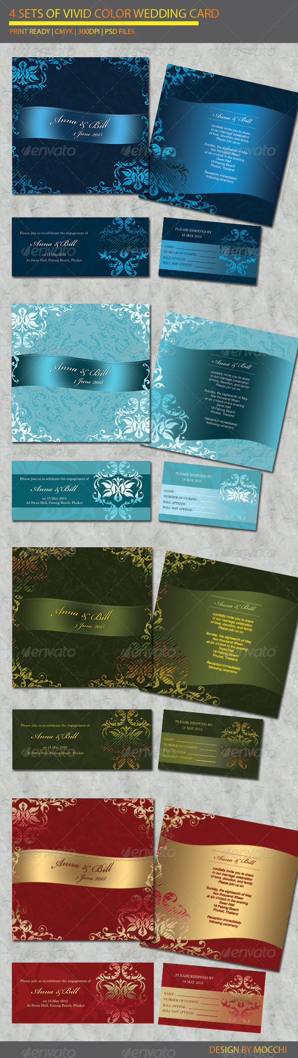 4 items Wedding Card - Weddings Cards & Invites