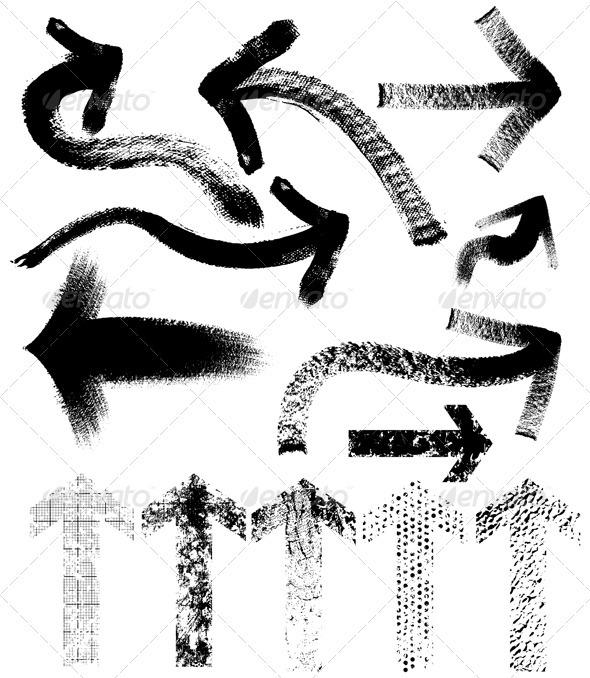 Grungy Arrows - Abstract Conceptual
