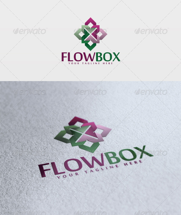 Flow Box Logo - Vector Abstract