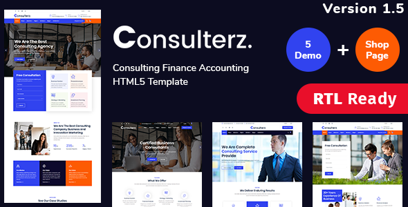 Consulterz - Consulting Finance Accounting + RTL Support by ThemeHt