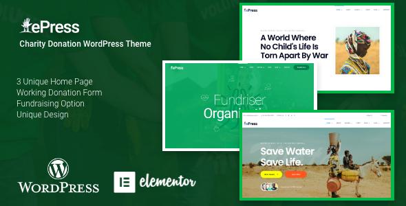ePress - Nonprofit Charity Theme by QuomodoTheme