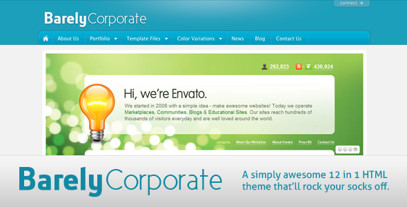 Barely Corporate HTML Theme – 12 in 1