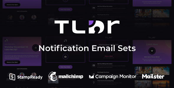TLDR - Notification Email Sets + Animated Icons by webtunes