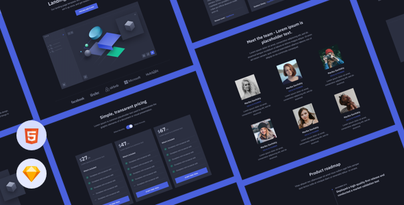 Top Cube - HTML Landing Page Template for Startups