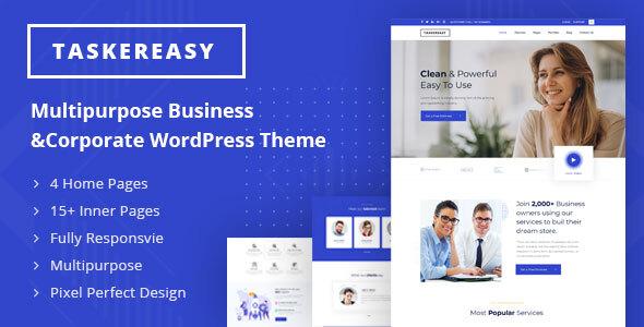 Taskereasy - Multipurpose Business & Corporate WordPress Theme by Slidesigma