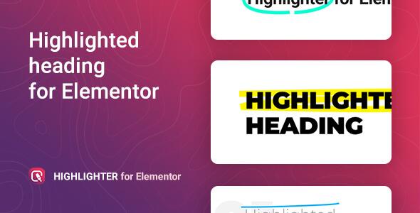 Highlighter – Highlighted heading for Elementor