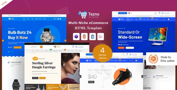 Tezno - eCommerce HTML Template