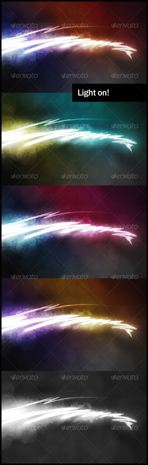 Light on! Backgrounds pack - Abstract Backgrounds