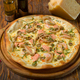 Seafood pizza on a wooden table - PhotoDune Item for Sale