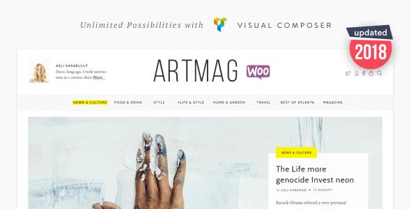 Marvelous Artmag Magazine & Shop WordPress Theme
