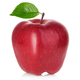 Red apple with green leaf isolated on white background. - PhotoDune Item for Sale