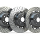 Different types of brake disks. Drilled and slotted brake disks in a row. - PhotoDune Item for Sale