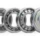 Bearings of different types in a row isolated on white background. - PhotoDune Item for Sale