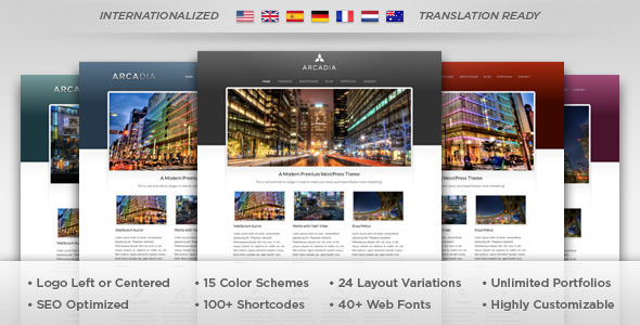 Arcadia - WordPress Theme