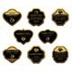 Set of gold labels for design food - GraphicRiver Item for Sale