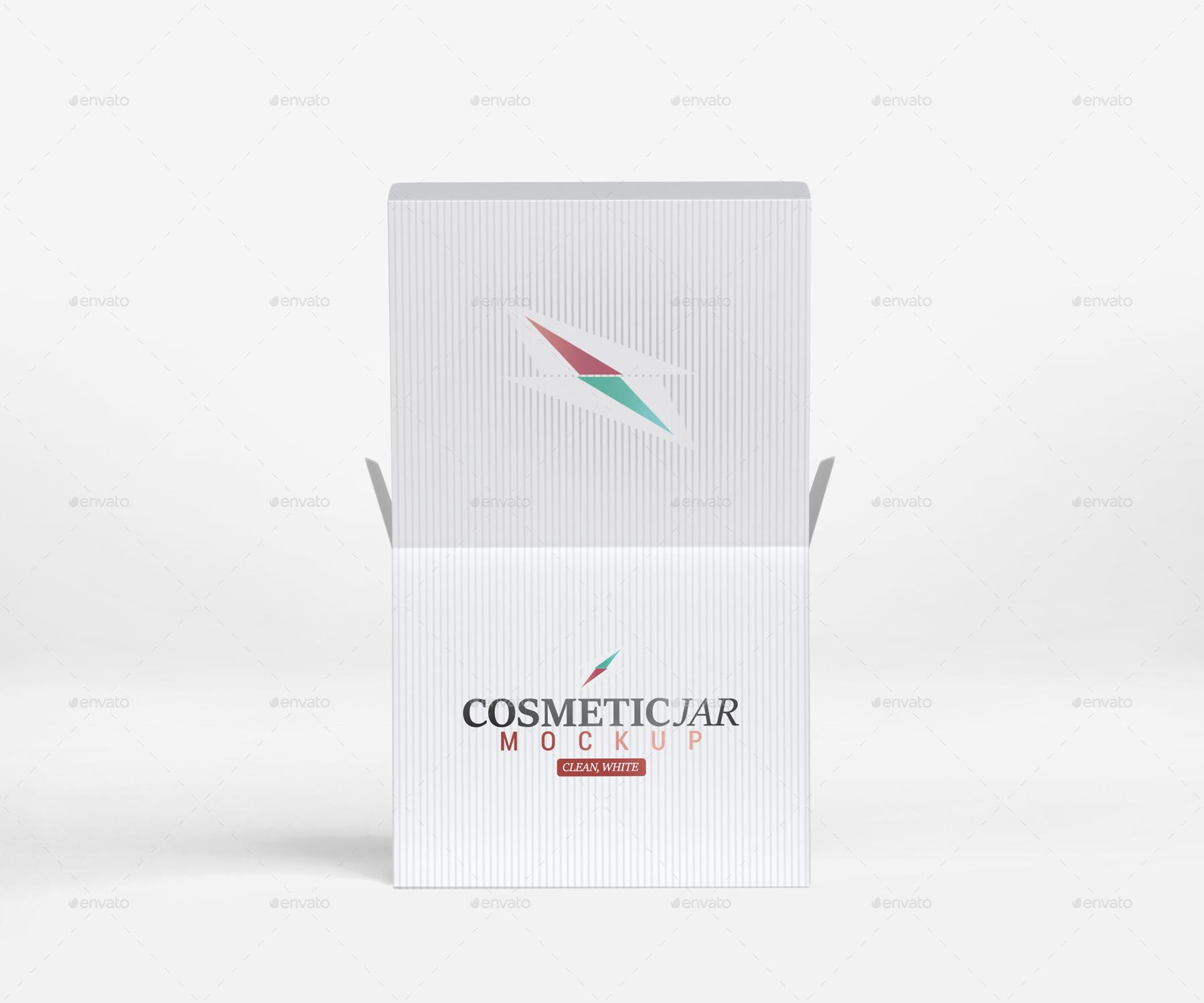 Sports Cap Logo Mockup Isolated: Cosmetic Jar & Box Mockup By Pixelica21