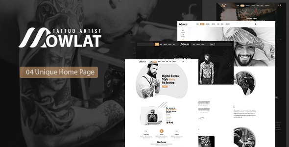 Dowlat - Inkd, Tattoo HTML Template