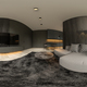 360 panorana black minimalist Interior of modern living room 3D rendering - PhotoDune Item for Sale