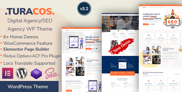Turacos - SEO & IT Agency WordPress Theme