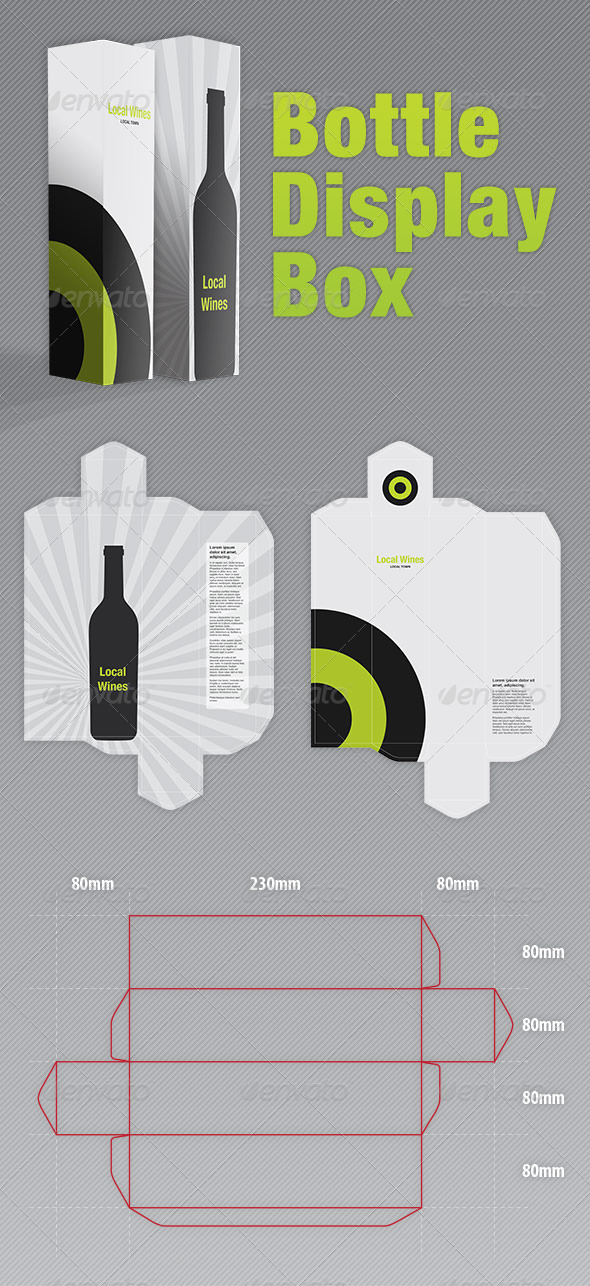 Bottle Display Box - Packaging - Packaging Print Templates