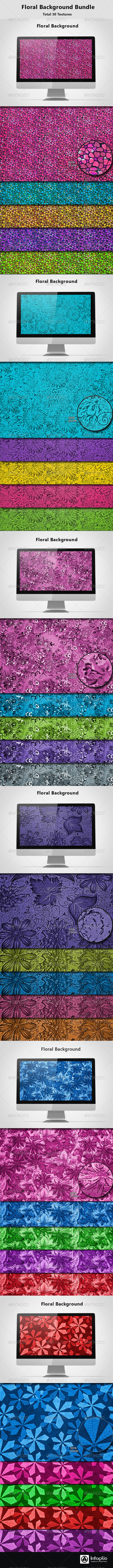 Floral Background Bundle 02 - Miscellaneous Backgrounds