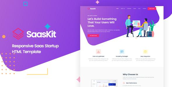 SaasKit - Saas Startup HTML Template