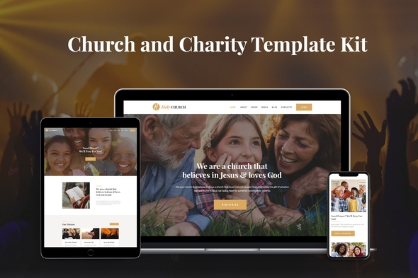 Holy - Church & Charity Template Kit