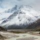 Lahaul valley in Himalayas with snowcappeped mountains. Himachal Pradesh, India - PhotoDune Item for Sale