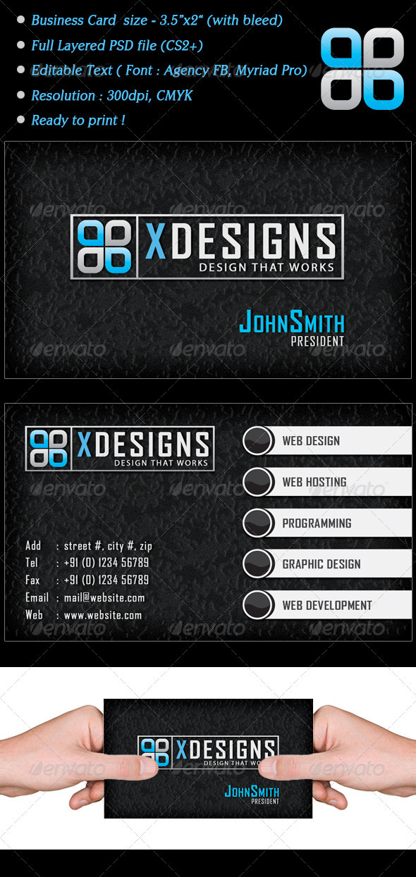 Xdesign Business Card - Corporate Business Cards