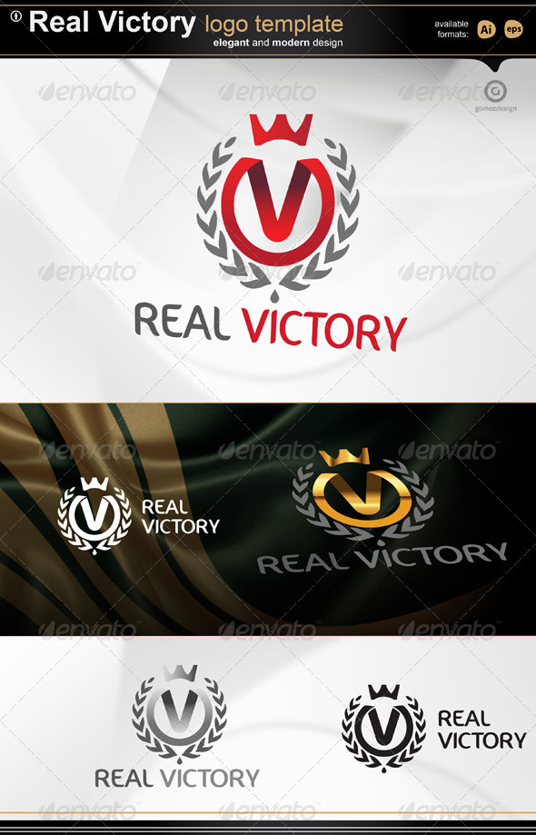 Real Victory logo - Letters Logo Templates