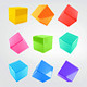 9 3D Cubes with 9 Colors - GraphicRiver Item for Sale