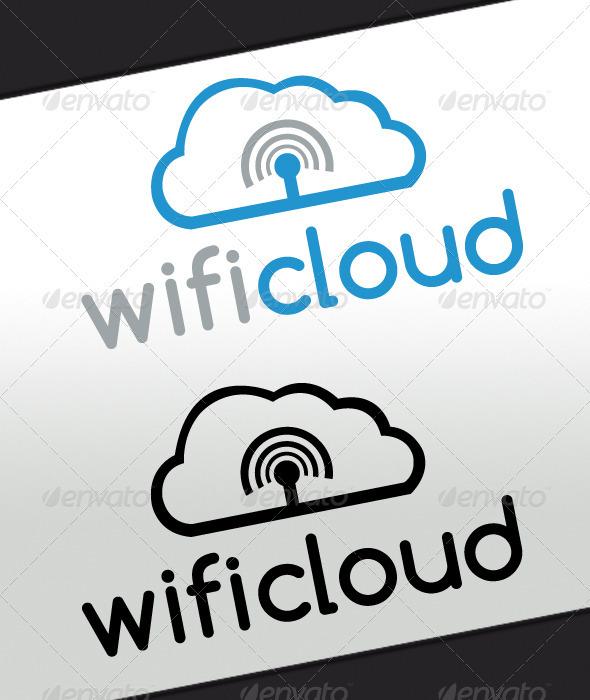 Wifi Cloud Logo - Abstract Logo Templates