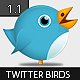 Cute Twitter Birds 1.1 - GraphicRiver Item for Sale