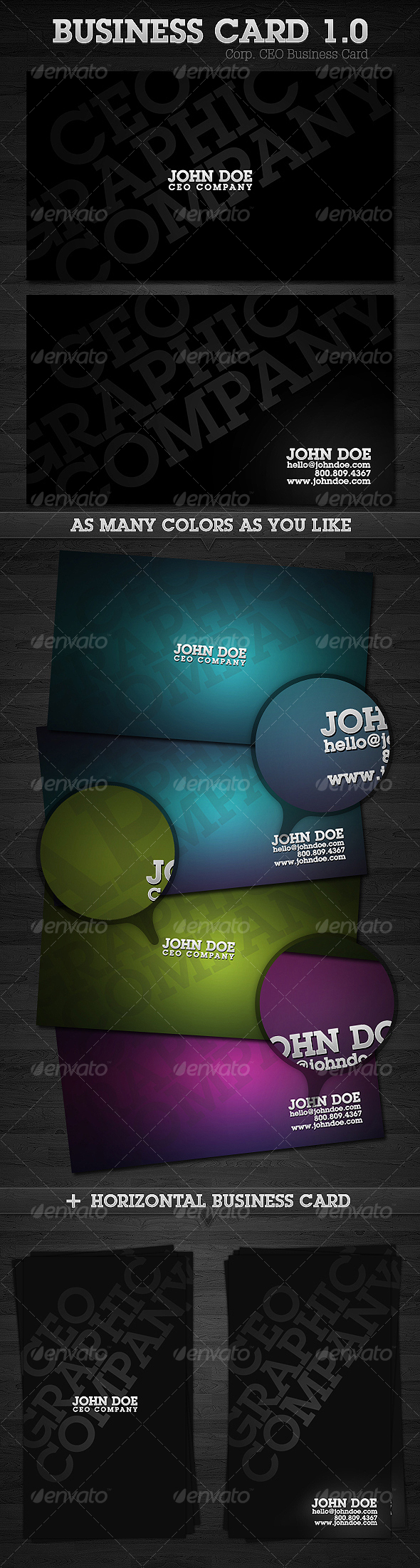 Corp. CEO Business Card 1.0 - Corporate Business Cards