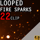 Looped Fire Sparks 22 Pack - VideoHive Item for Sale