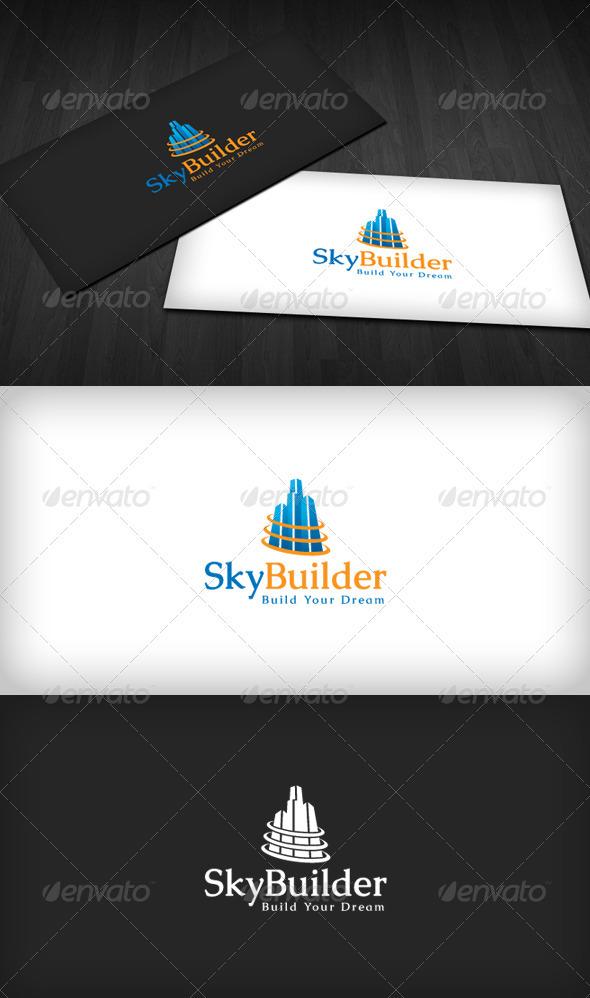 Sky Builder Logo - Buildings Logo Templates