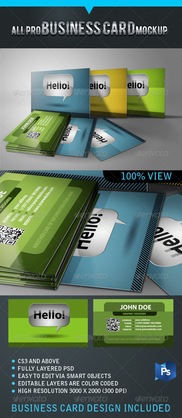 All Pro Business Card Mockup - Business Cards Print